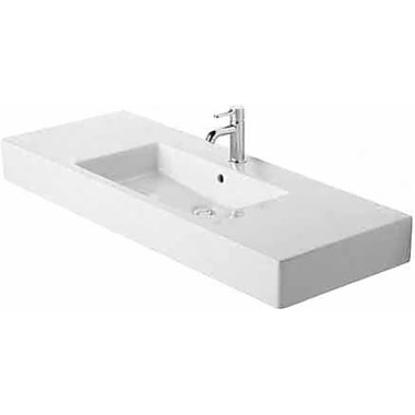 Duravit Vero Furniture Rectangular Vessel Bathroom Sink w/ Overflow; No Hole