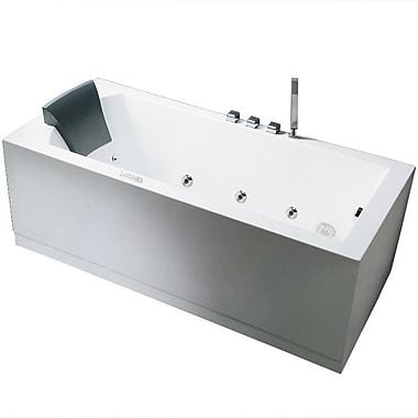 Ariel Bath Platinum 59'' x 31.5'' Whirlpool Bathtub; Right