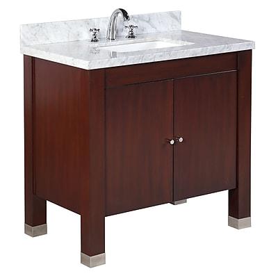 KBC Riley 36'' Single Bathroom Vanity Set; Chocolate