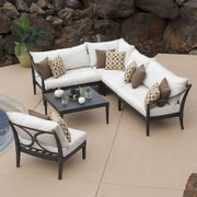 RST Brands Outdoor Astoria 6 Piece Sectional Seating Group w/ Cushion