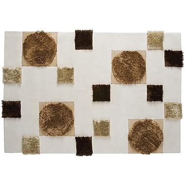 Hokku Designs Anatolia White/Beige Area Rug; Rectangle 5'6'' x 7'10''