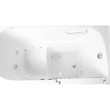 Ariel Bath 52'' x 30'' Dual Whirlpool Bathtub; Right