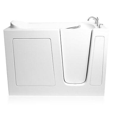 Ariel Bath 60'' x 30'' Dual Whirlpool Bathtub; Right