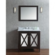 Ariel Bath Summit 36'' Single Bathroom Vanity Set w/ Mirror; Espresso