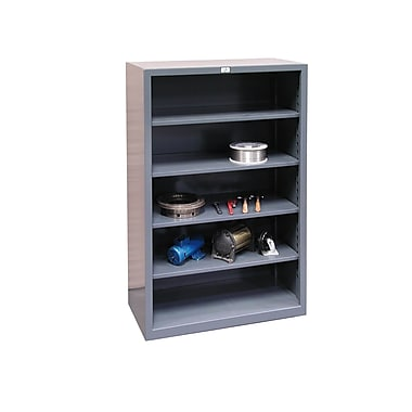 Strong Hold Products Closed 72'' Four Shelf Shelving Unit