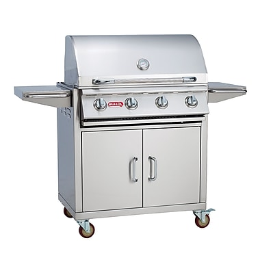 Bull Outdoor Outlaw 4-Burner Propane Gas Grill w/ Cabinet; Natural Gas