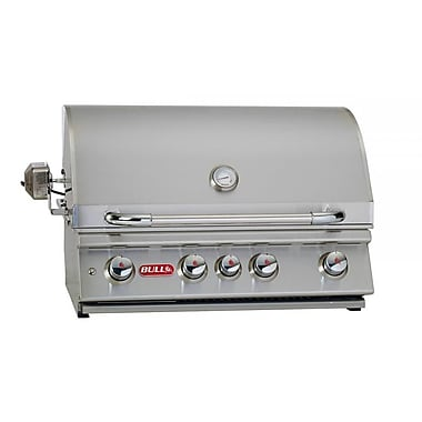Bull Outdoor Angus 4-Burner Built-In Propane Gas Grill; Liquid Propane