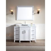 Ariel Bath Hollandale 49'' Single Sink Vanity Set w/ Mirror; White