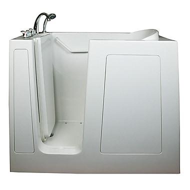 Ella Walk In Bath Deep High Air Massage Whirlpool Walk-In Tub; Left