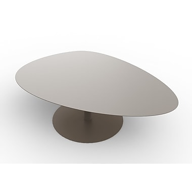 MG FRENCH DESIGN Low Coffee Table; Brownish-Grey