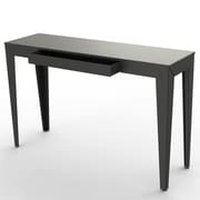 MG FRENCH DESIGN ZEF Console Table with Drawer; Anthracite