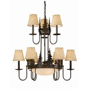 Vaxcel Bryce 9-Light Shaded Chandelier