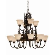 Vaxcel Bryce 12-Light Shaded Chandelier