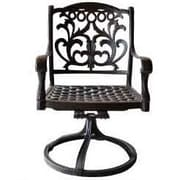 K B Patio Mandalay Swivel Patio Dining Chair