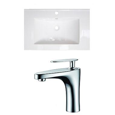 American Imaginations Single Handle 24'' Single Bathroom Vanity Top