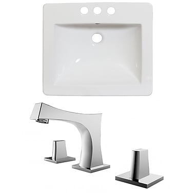 American Imaginations Double Handle 21'' Single Bathroom Vanity Top