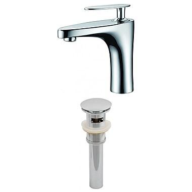 American Imaginations Single Hole Brass Faucet Less Handle w/ Drain