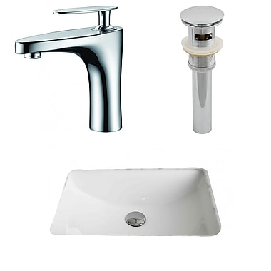American Imaginations Rectangular Undermount Bathroom Sink w/ Overflow
