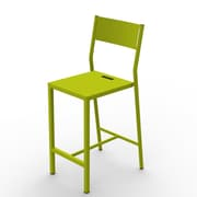 MG FRENCH DESIGN Up 29.5'' Bar Chair; Green