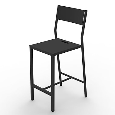 MG FRENCH DESIGN Up 29.5'' Bar Chair; Black