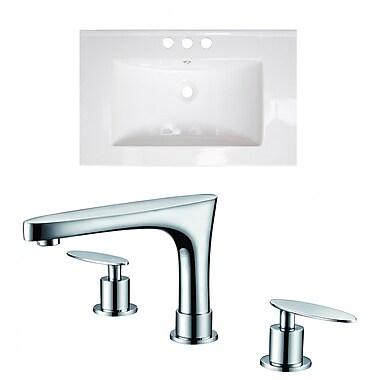 American Imaginations Vee Drop-in 21'' Single Bathroom Vanity Top