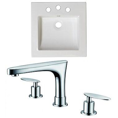 American Imaginations Double Handle 17'' Single Bathroom Vanity Top