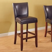 Wildon Home   Telegraph 29'' Bar Stool (Set of 2); Brown