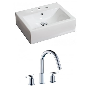 American Imaginations 21''Wall Mounted Bathroom Sink w/ Overflow