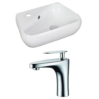 American Imaginations Unique 19'' Wall Mount Bathroom Sink w/ Overflow