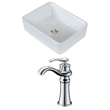 American Imaginations Rectangular Vessel Bathroom Sink