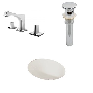American Imaginations Oval Undermount Bathroom Sink w/ Overflow