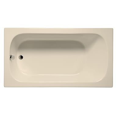 Malibu Home Inc. Sanibel 66'' x 36'' Soaking Bathtub; Biscuit