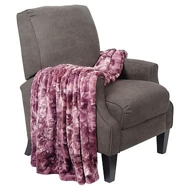 BOON Throw & Blanket Tie Dye Double Sided Faux Fur Throw Blanket; Purple