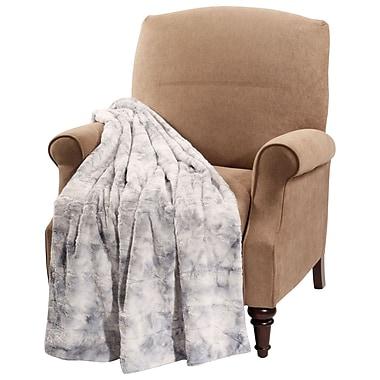 BOON Throw & Blanket Tie Dye Double Sided Faux Fur Throw Blanket; Blue