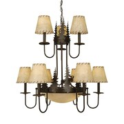 Vaxcel Yellowstone Indoor 9-Light Shaded Chandelier