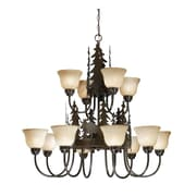 Vaxcel Yellowstone Indoor 12-Light Shaded Chandelier