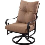 K B Patio Santa Anita Swivel Patio Dining Chair w/ Cushion