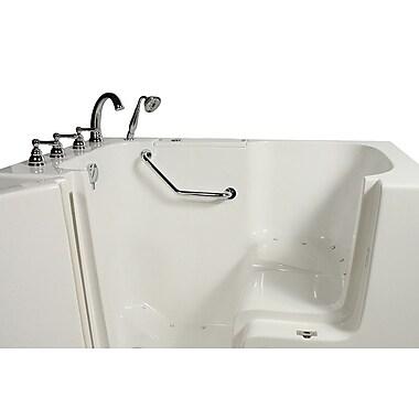 Ella Walk In Bath Wheelchair Access 51.5'' x 40.25'' Air Massage Whirlpool Bathtub; Left Hand