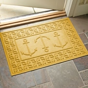 Bungalow Flooring Aqua Shield Ahoy! Doormat; Yellow