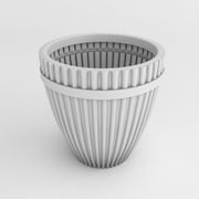 TerraCastProducts Fluted Resin Pot Planter; White