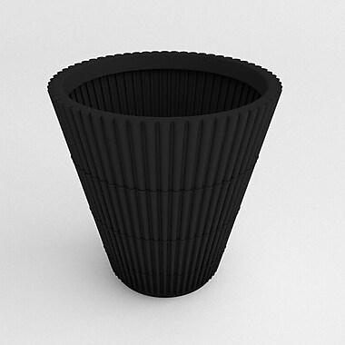 TerraCastProducts Bamboo Resin Pot Planter; Black
