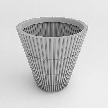 TerraCastProducts Bamboo Resin Pot Planter; Gray