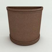 TerraCastProducts Half Resin Pot Planter; Brazilian Terracotta