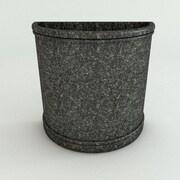 TerraCastProducts Half Resin Pot Planter; Charcoal Granite
