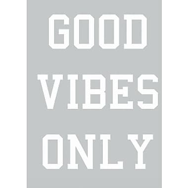 SweetumsWallDecals ''Good Vibes Only'' Wall Decal; White