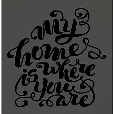 SweetumsWallDecals My Home is Where You Are Wall Decal; Black
