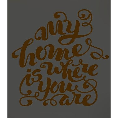 SweetumsWallDecals My Home is Where You Are Wall Decal; Brown