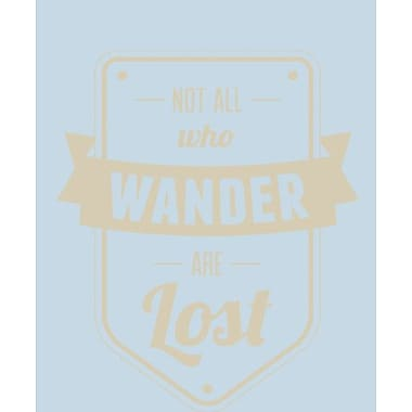 SweetumsWallDecals Not All Who Wander Are Lost Wall Decal; Beige