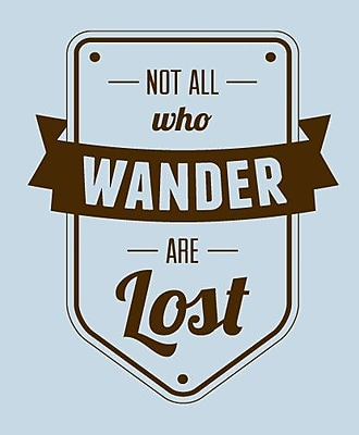 SweetumsWallDecals Not All Who Wander Are Lost Wall Decal; Brown