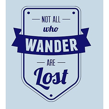 SweetumsWallDecals Not All Who Wander Are Lost Wall Decal; Navy